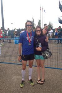 Dusty and I post race.